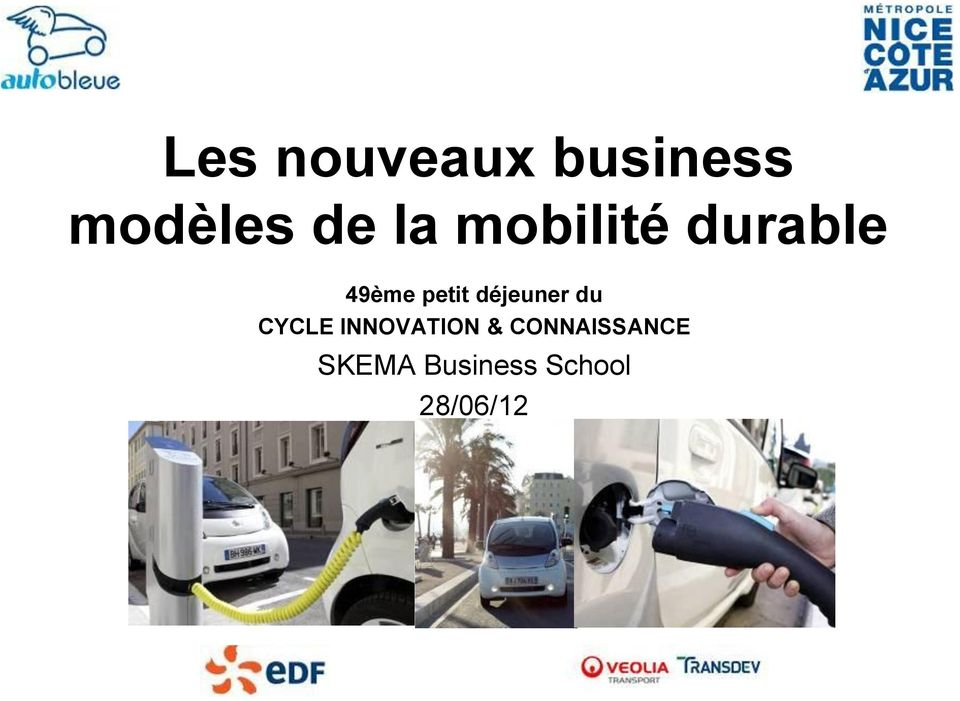 déjeuner du CYCLE INNOVATION &