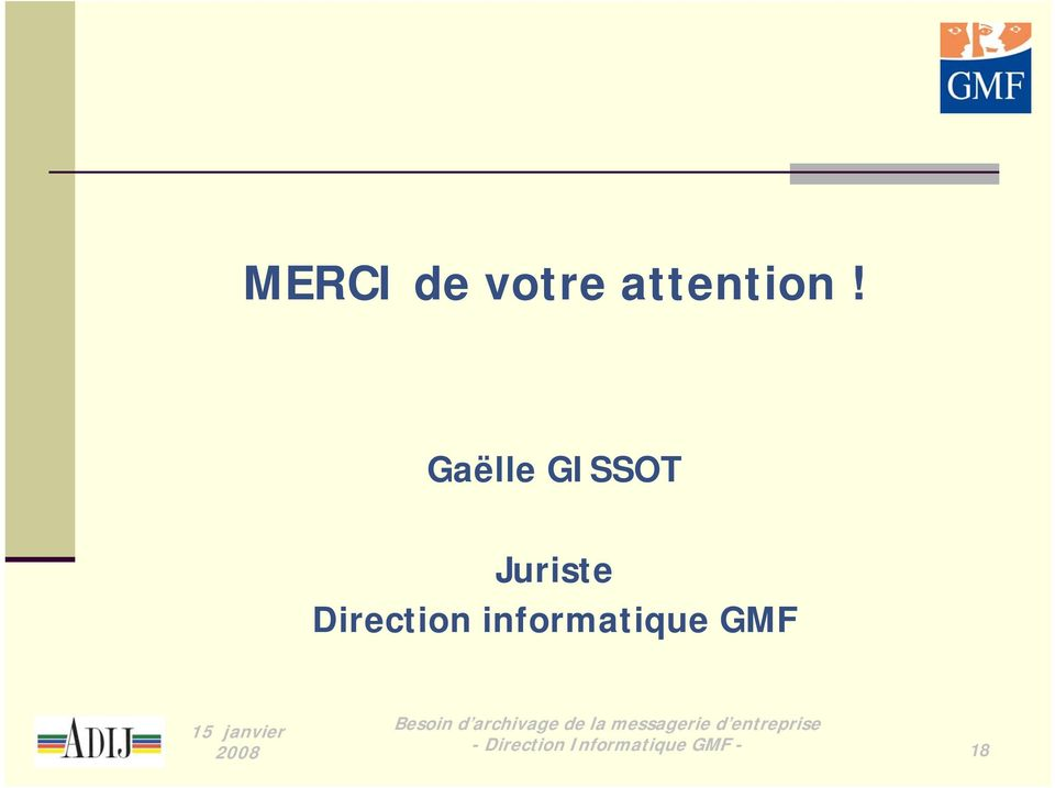Direction informatique GMF