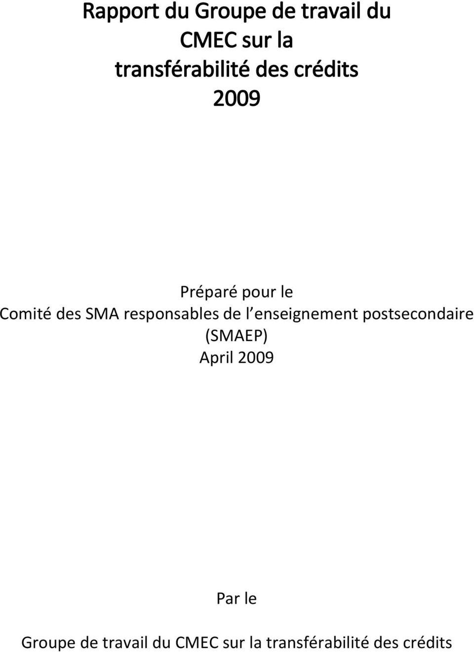 responsables de l enseignement postsecondaire (SMAEP) April