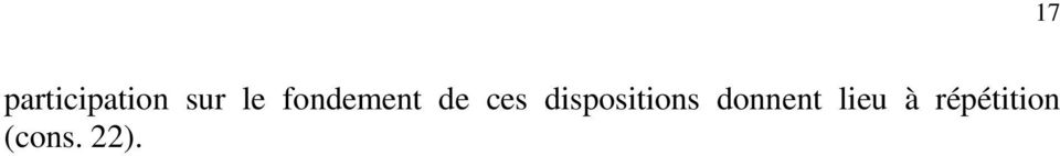 dispositions donnent