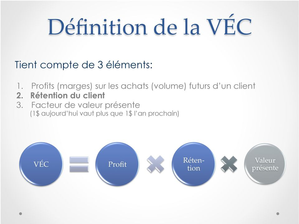 Rétention du client 3.