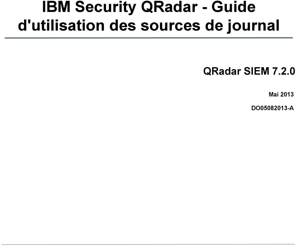 sources de journal QRadar