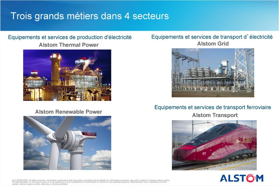 services de transport d électricité Alstom Grid Alstom Renewable
