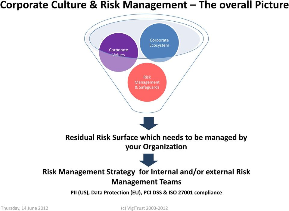 Organization Risk Management Strategy for Internal and/or external Risk Management Teams PII
