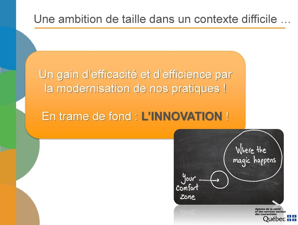 efficience par la modernisation de nos