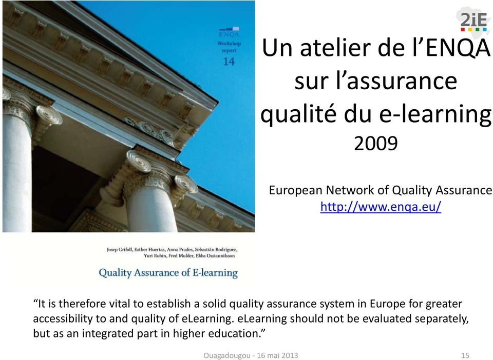 eu/ It is therefore vital to establish a solid quality assurance system in Europe for greater