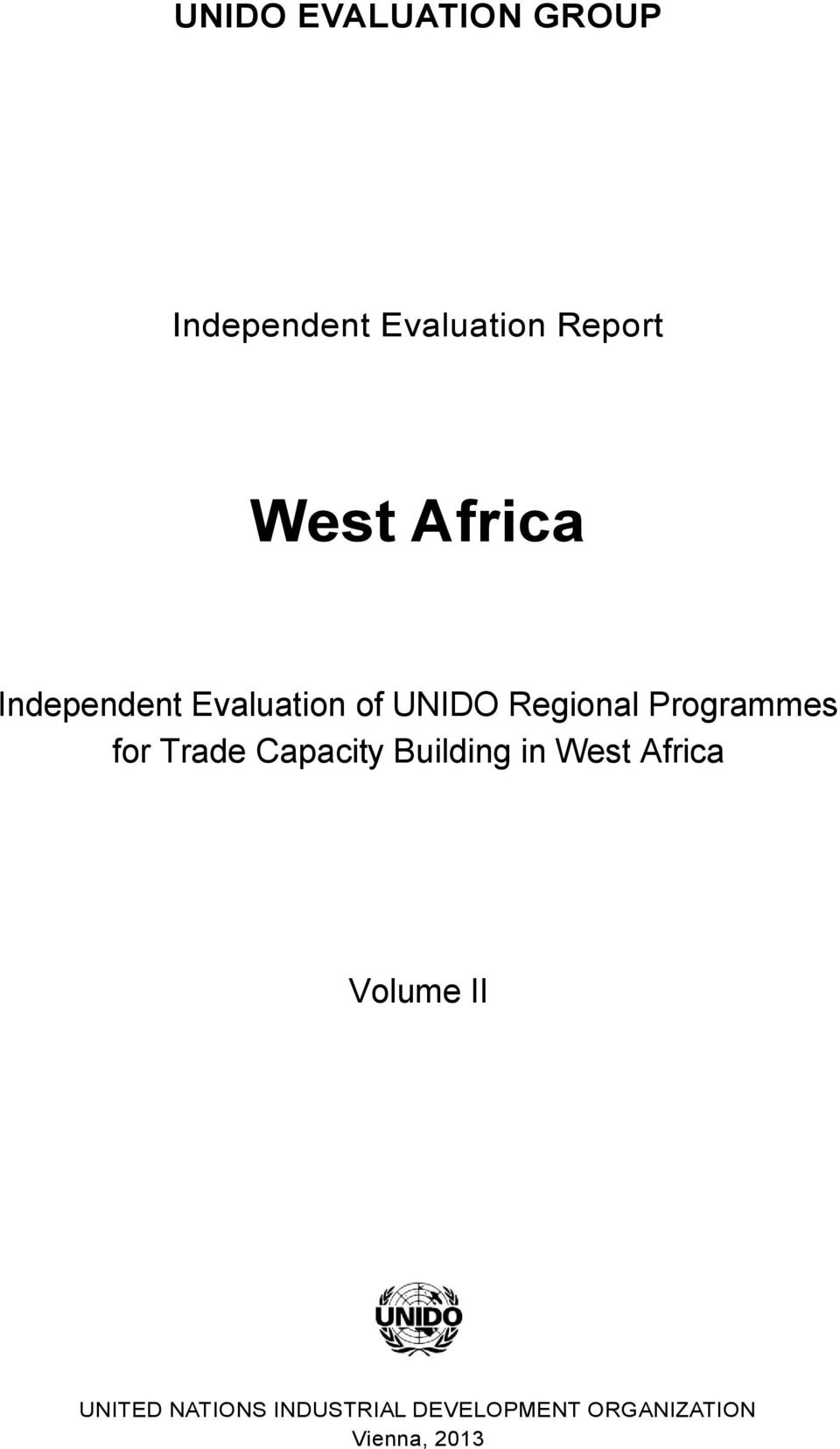 for Trade Capacity Building in West Africa Volume II