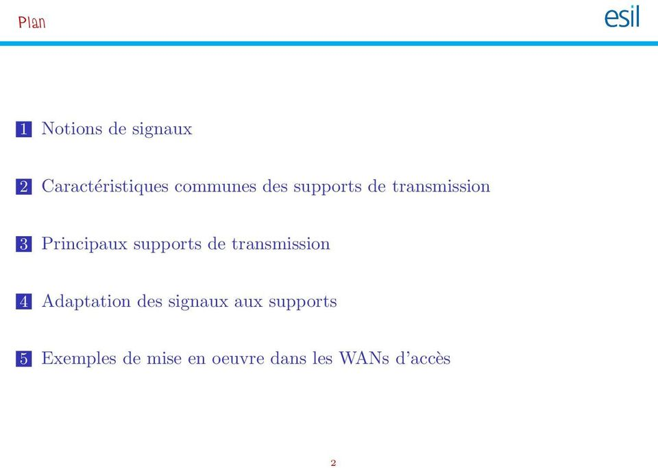 supports de transmission 4 Adaptation des signaux