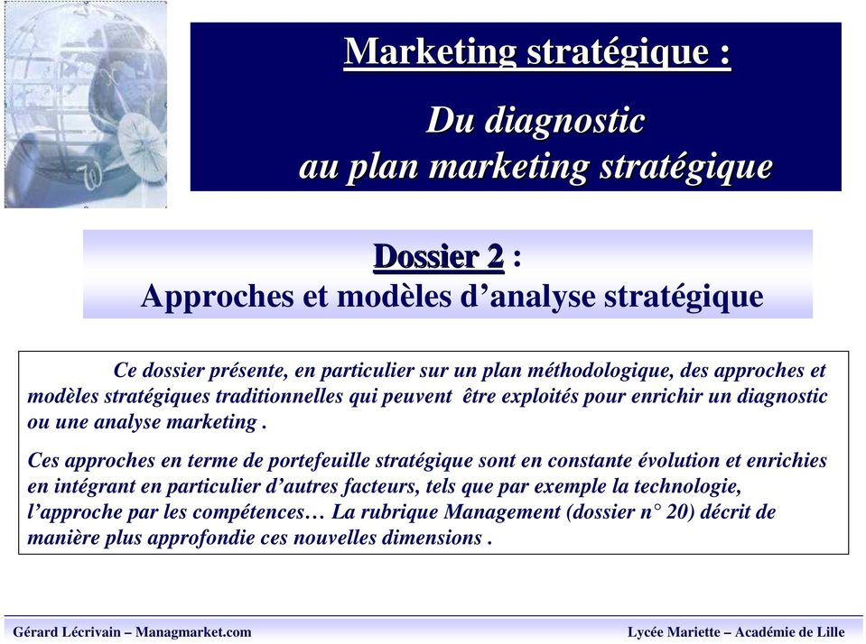 analyse marketing.
