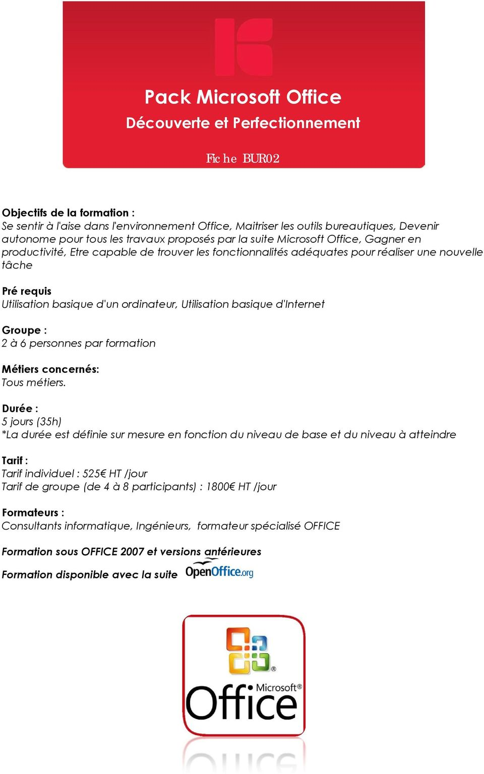 Kiela consulting microsoft office open office windows - Numerotation des pages sur open office ...