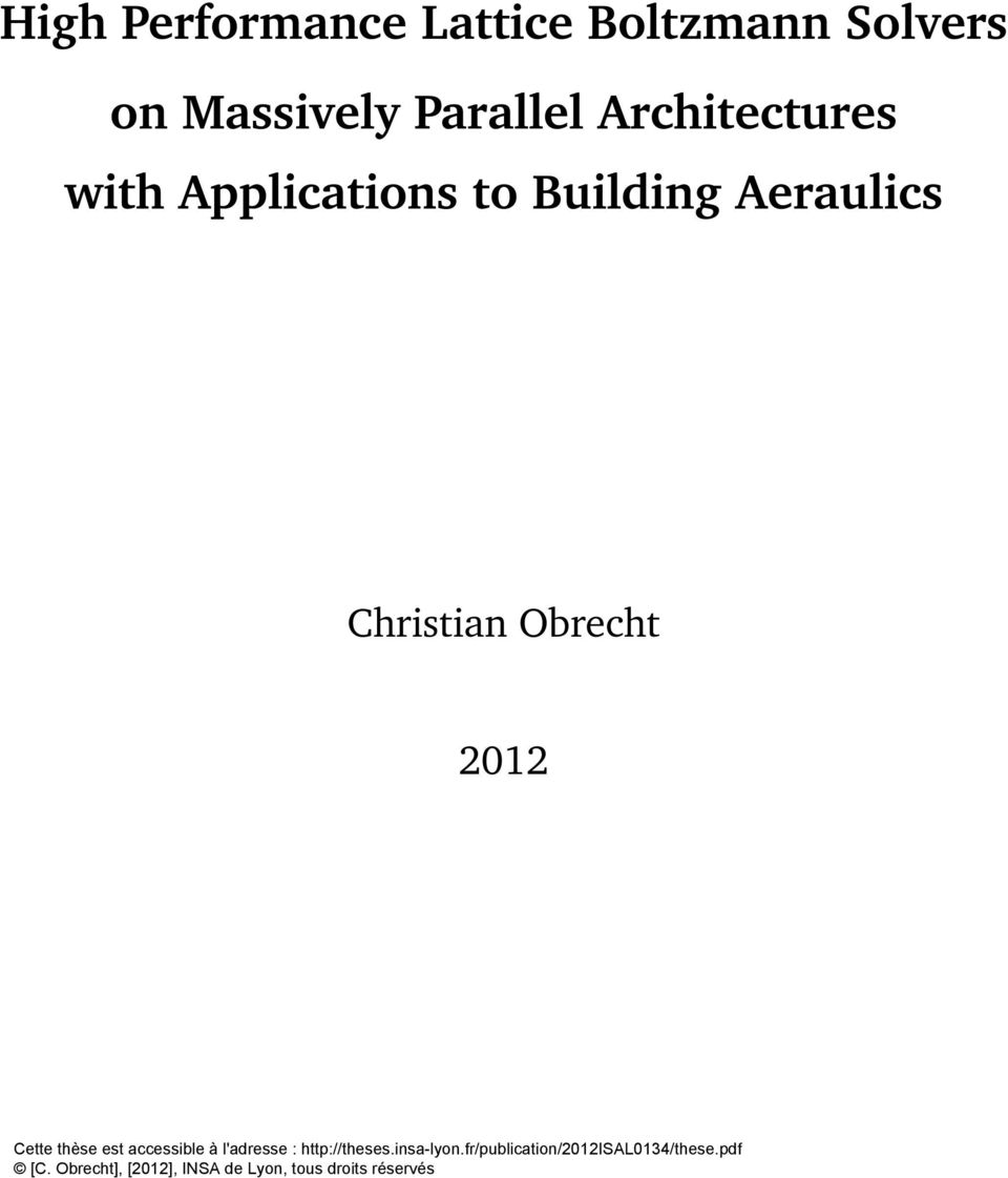 Architectures with Applications to