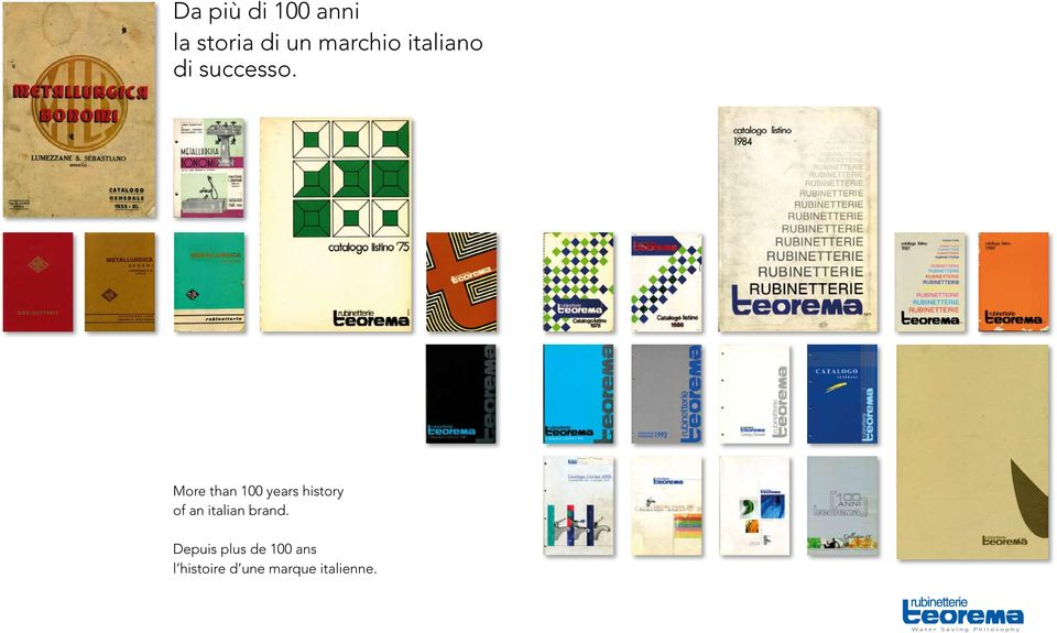 More than 100 years history of an italian