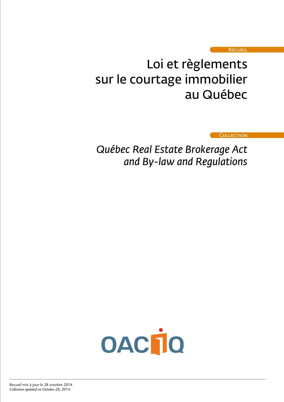 Brokerage Act and By-law and Regulations (second edition)