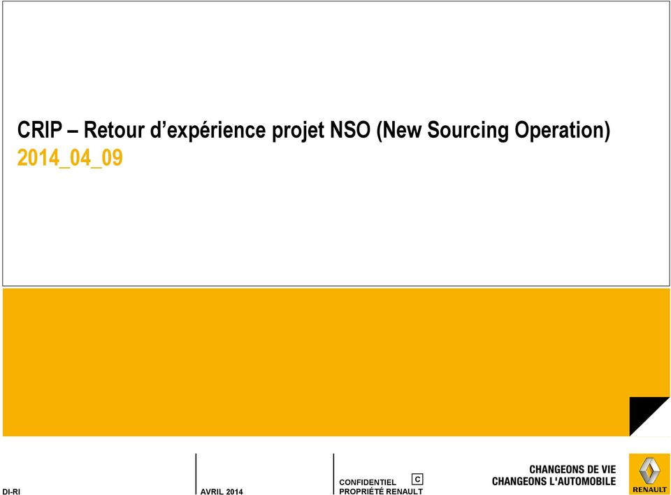 NSO (New Sourcing
