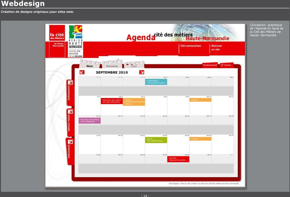 Conception graphique de l Agenda en