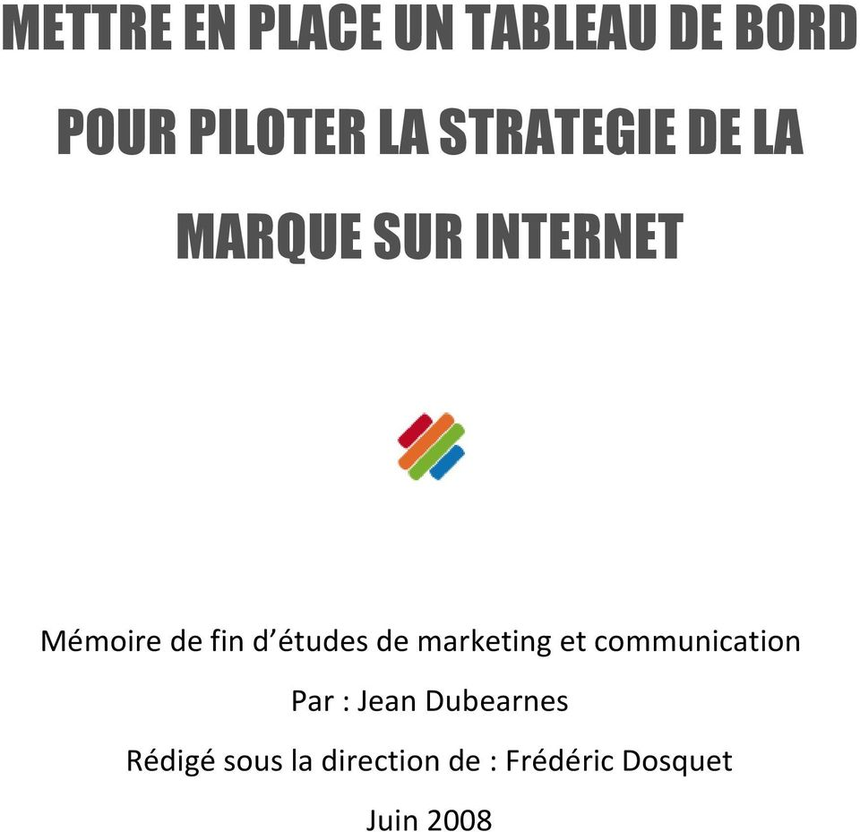 études de marketing et communication Par : Jean