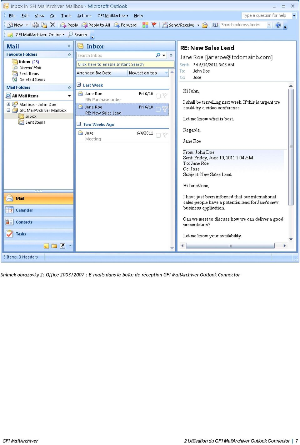 MailArchiver Outlook Connector GFI
