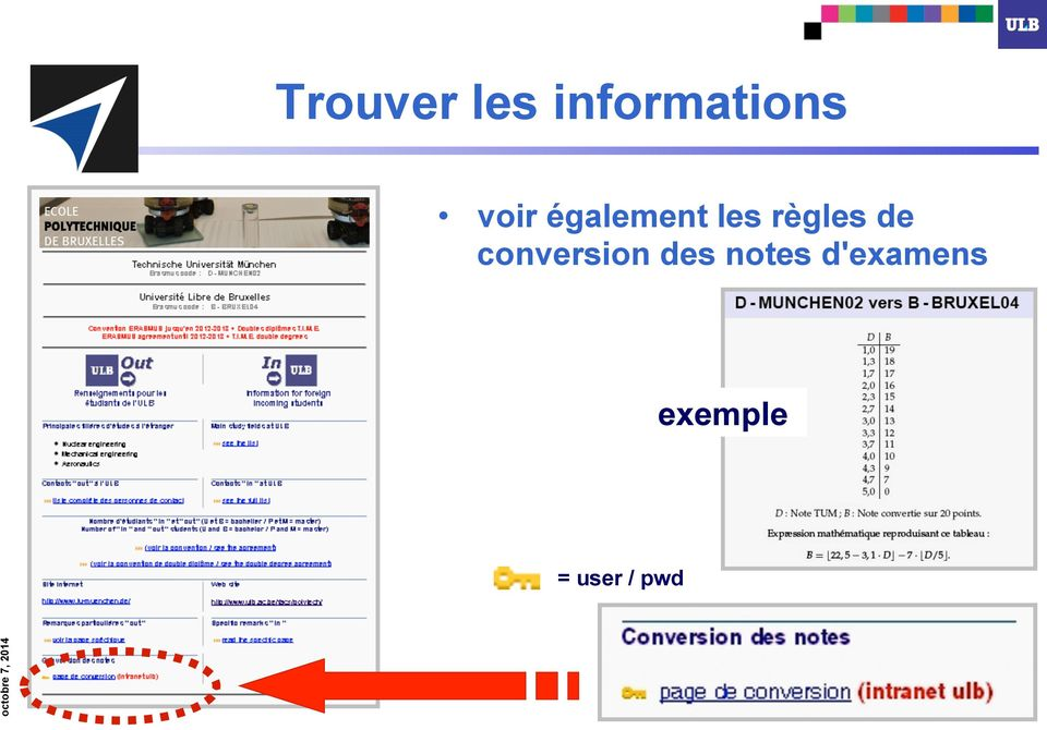 de conversion des notes