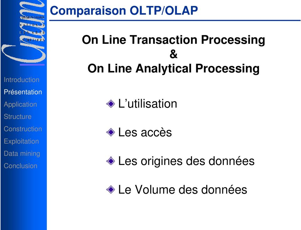 Analytical Processing L utilisation
