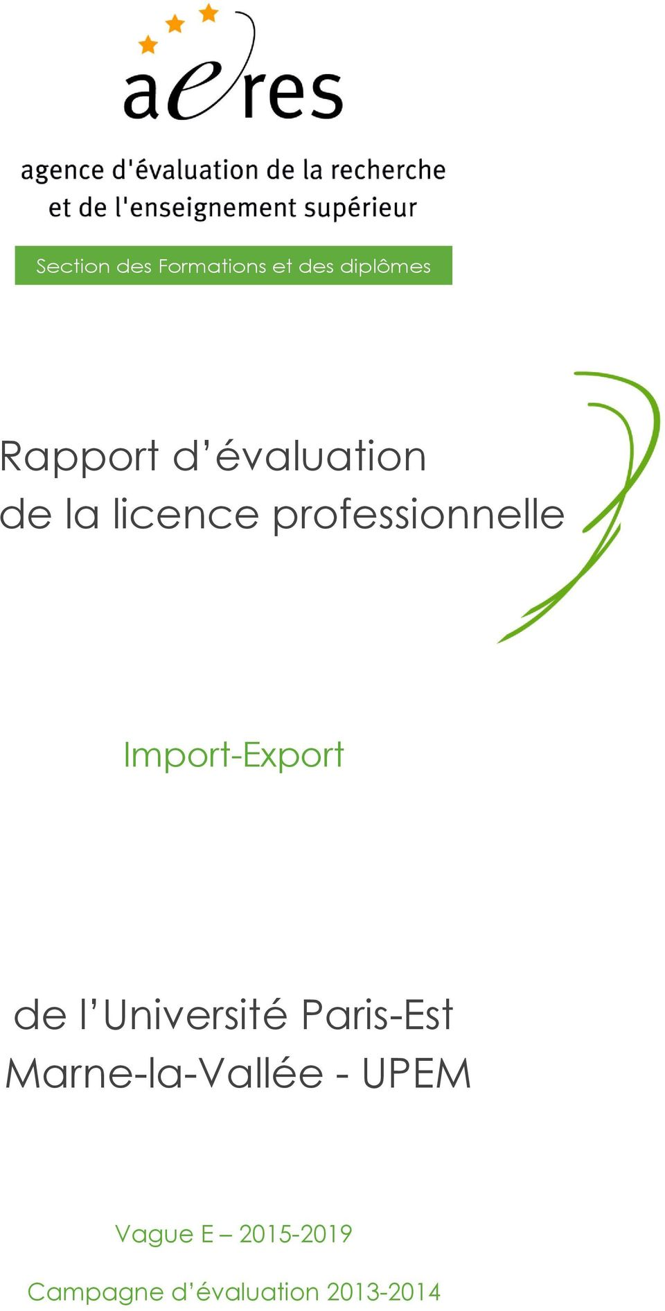 Import-Export de l Université Paris-Est