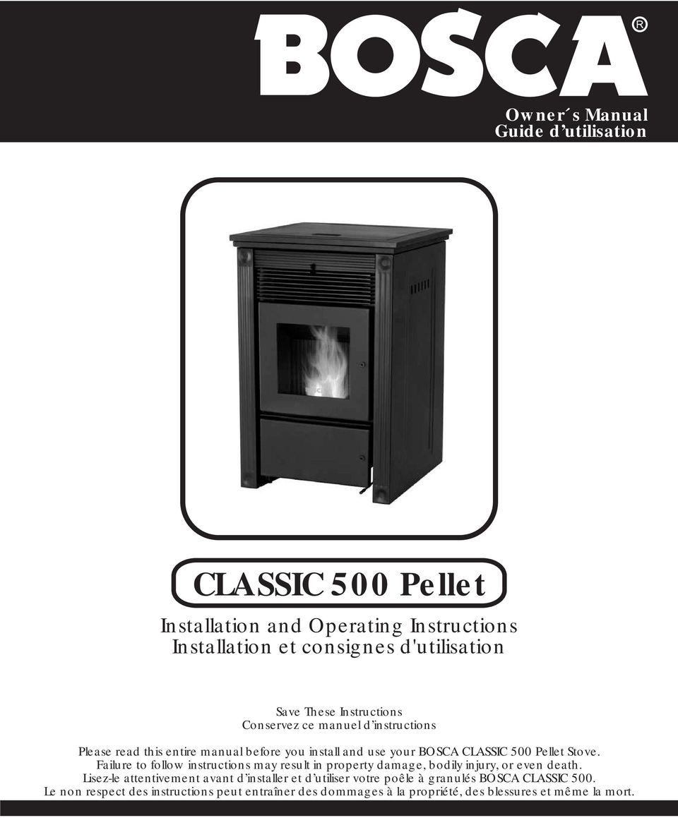 classic 500 pellet installation and operating instructions
