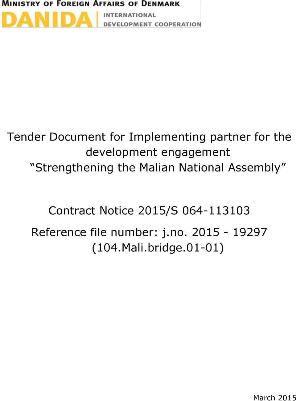 National Assembly Contract Notice 2015/S 064-113103