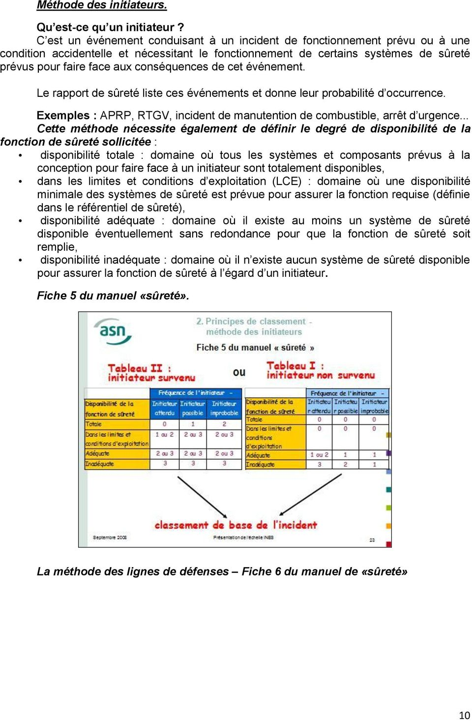 conséquences de cet événement. Le rapport de sûreté liste ces événements et donne leur probabilité d occurrence. Exemples : APRP, RTGV, incident de manutention de combustible, arrêt d urgence.