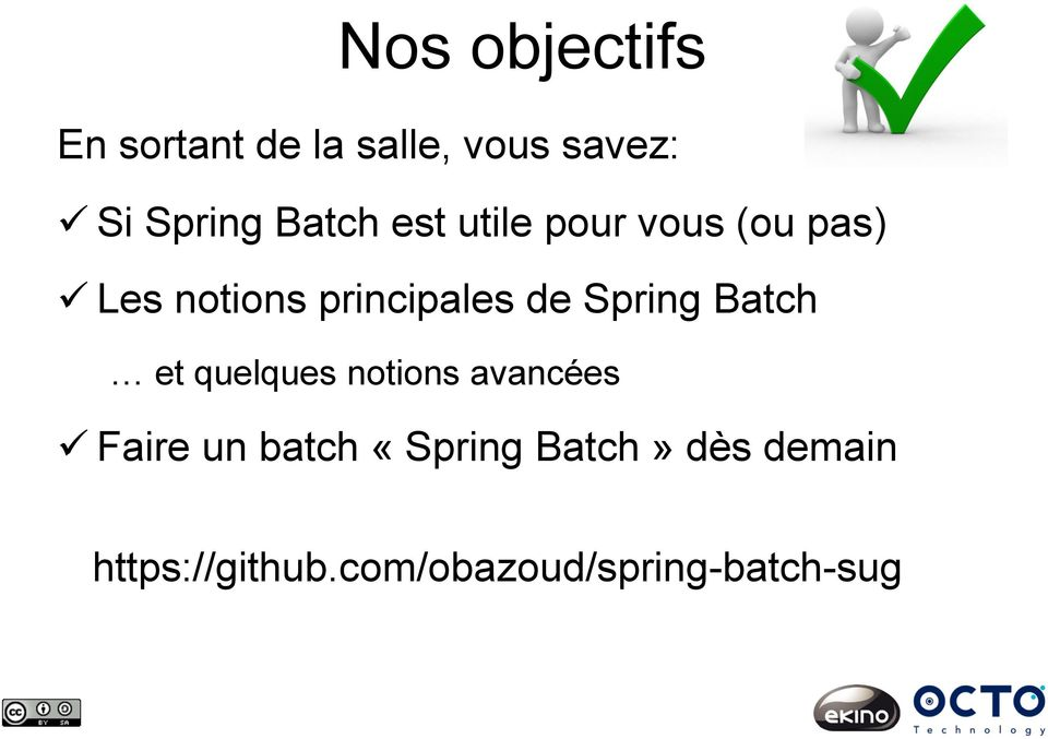 Spring Batch et quelques notions avancées Faire un batch