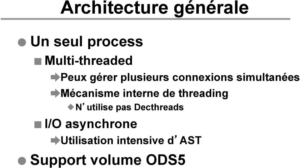 interne de threading N utilise pas Decthreads I/O