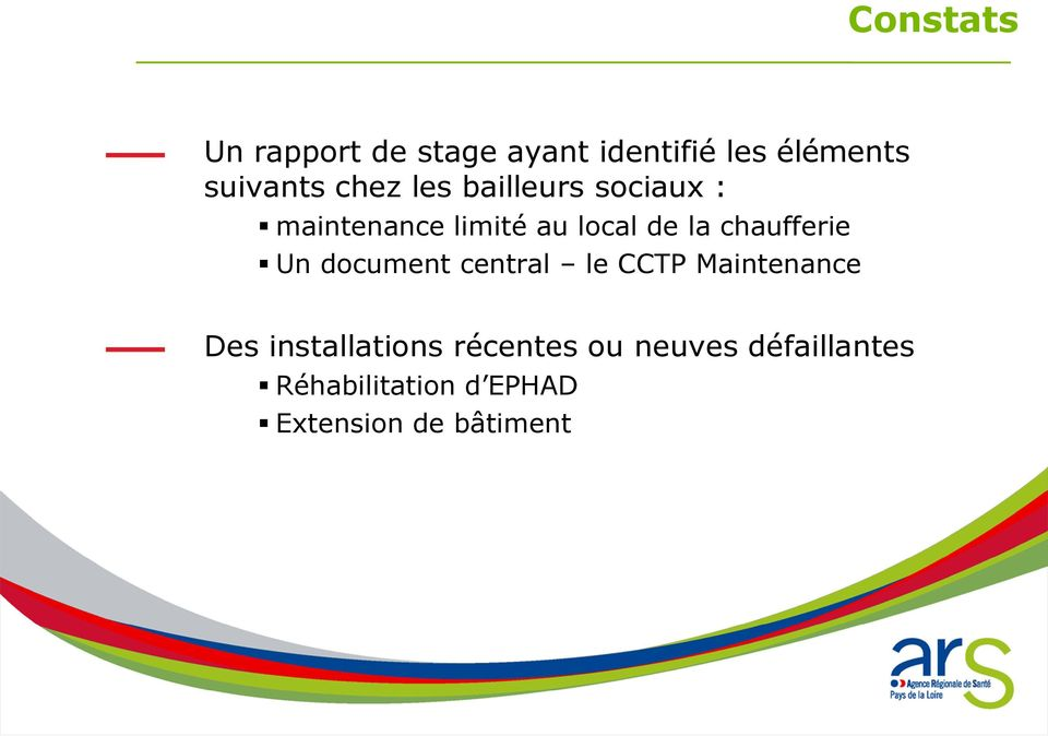 chaufferie Un document central le CCTP Maintenance Des installations