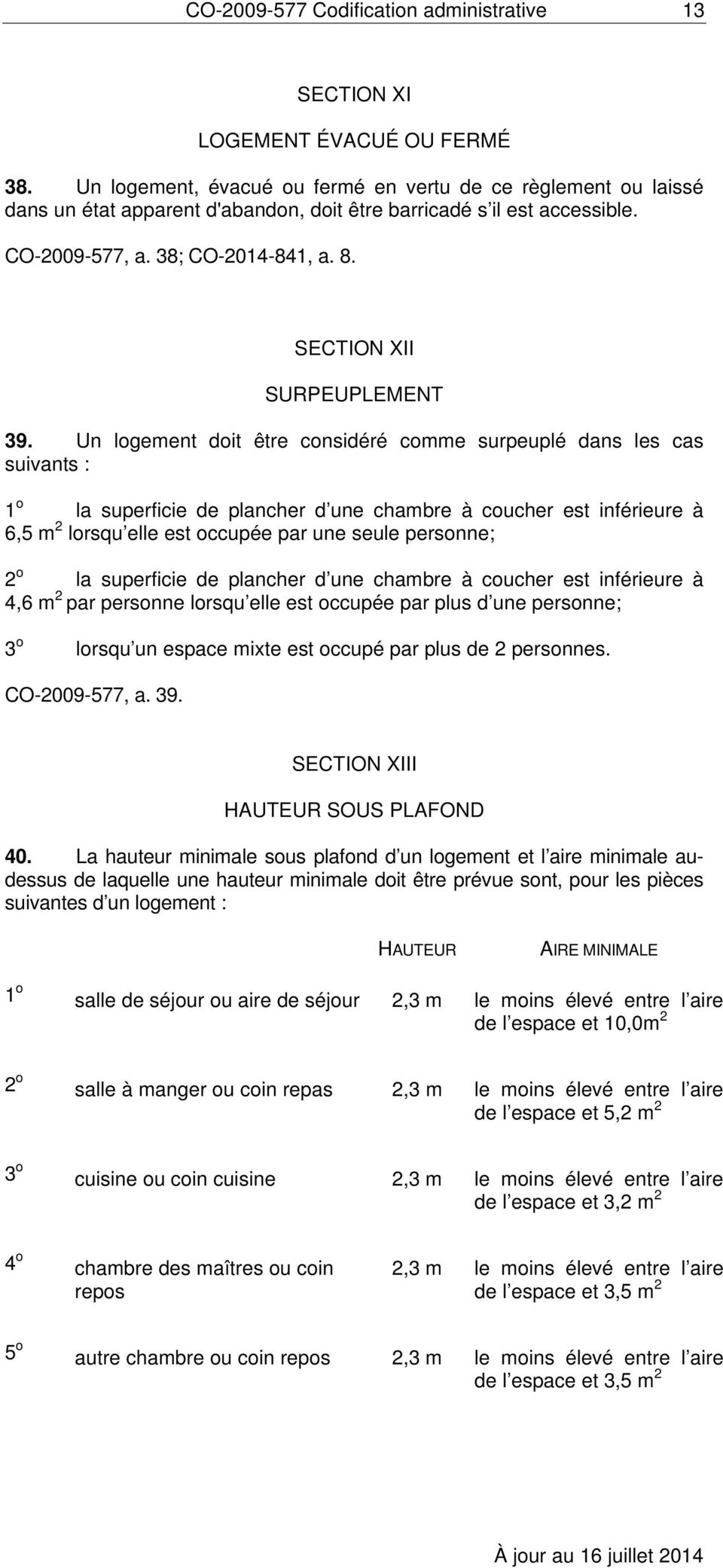 SECTION XII SURPEUPLEMENT 39.