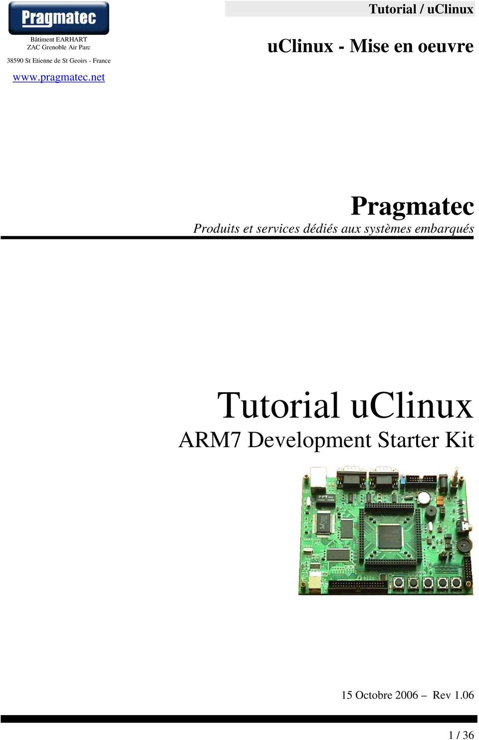 Tutorial uclinux ARM7 Development