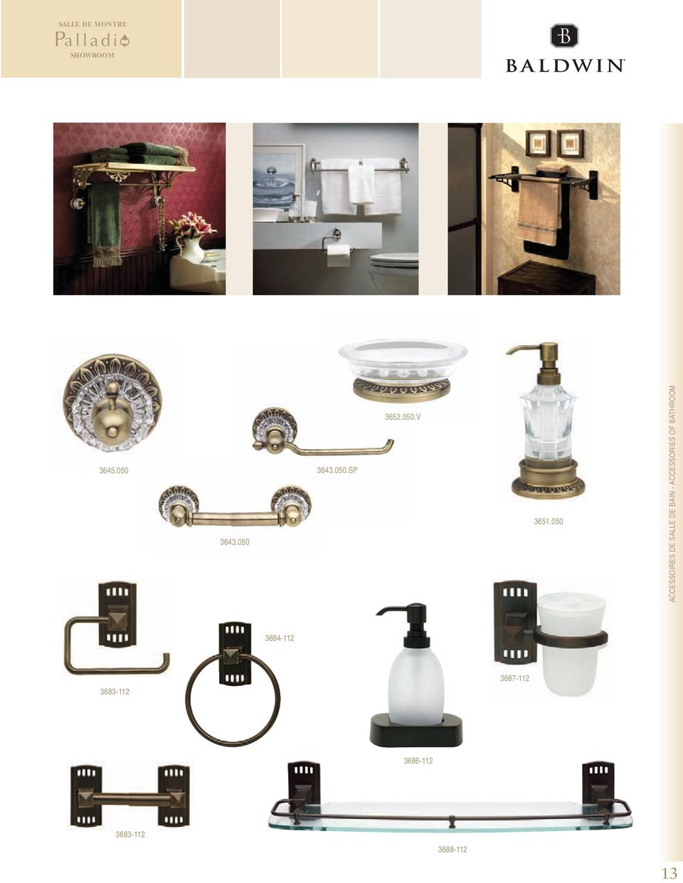 ACCESSORIES OF BATHROOM 3684-112