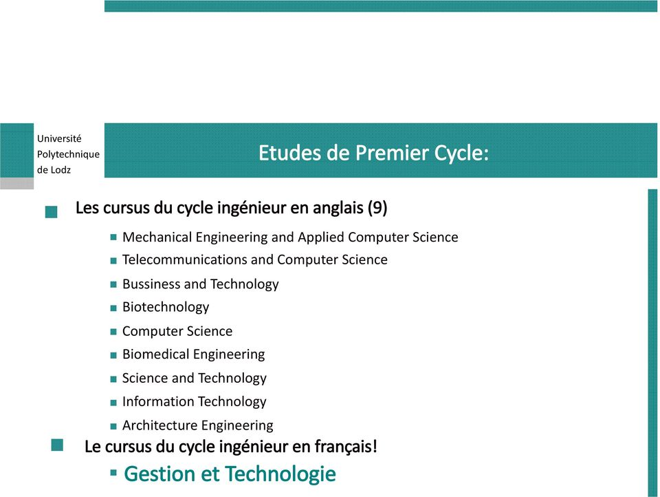 Biotechnology Computer Science Biomedical Engineering Science and Technology Information