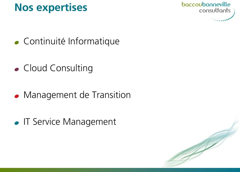 Consulting % Management de
