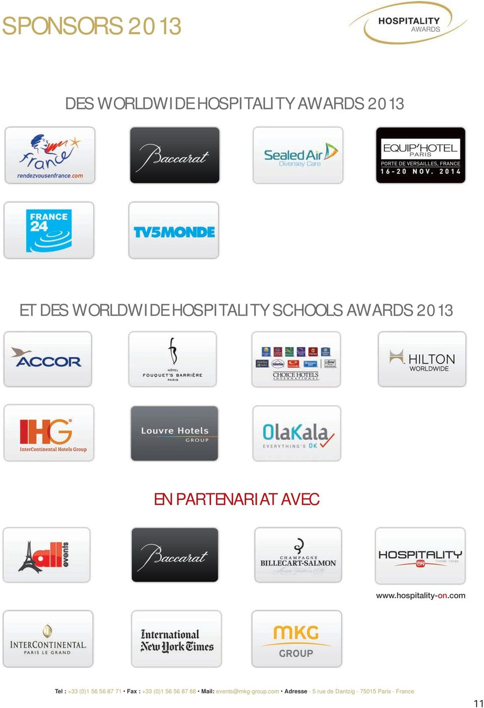 WORLDWIDE HOSPITALITY SCHOOLS AWARDS