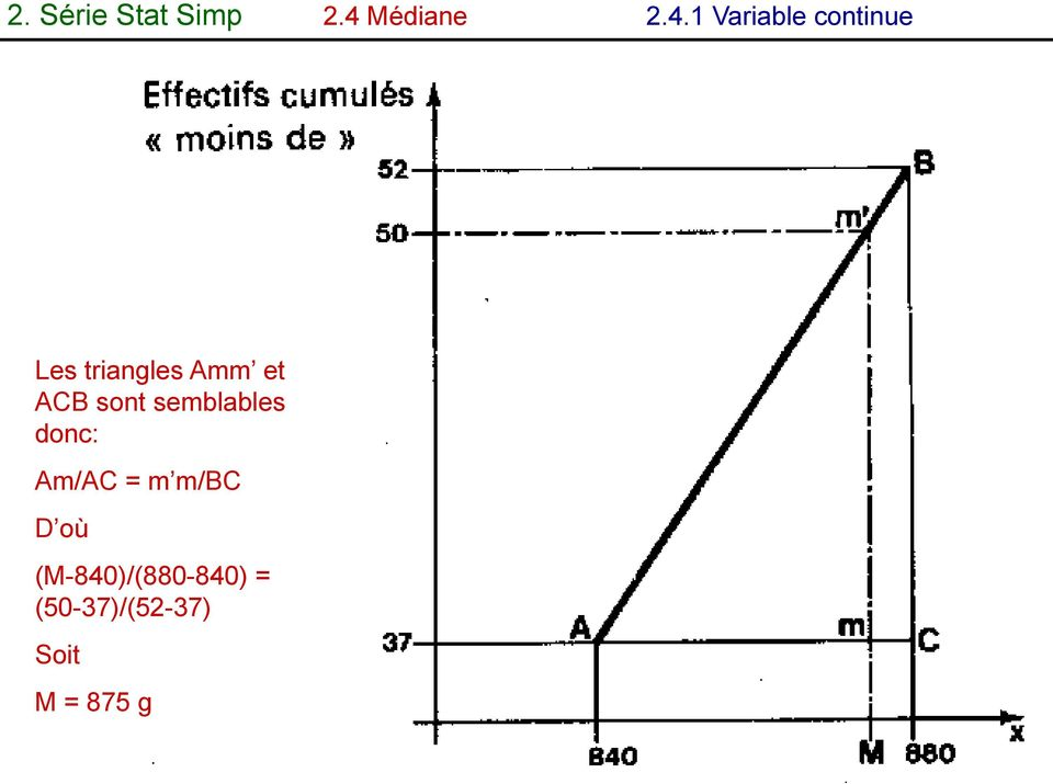 1 Variable continue Les triangles Amm et