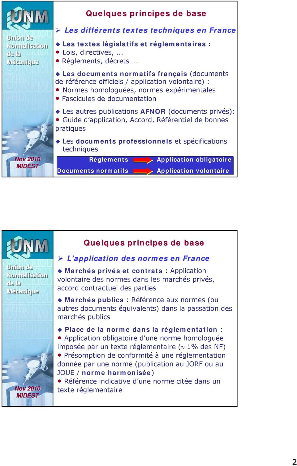 publications AFNOR (ocuments privés) s): Guie application, Accor, Référentiel e bonnes pratiques Les ocuments professionnels et spécifications techniques Règlements Application obligatoire Documents