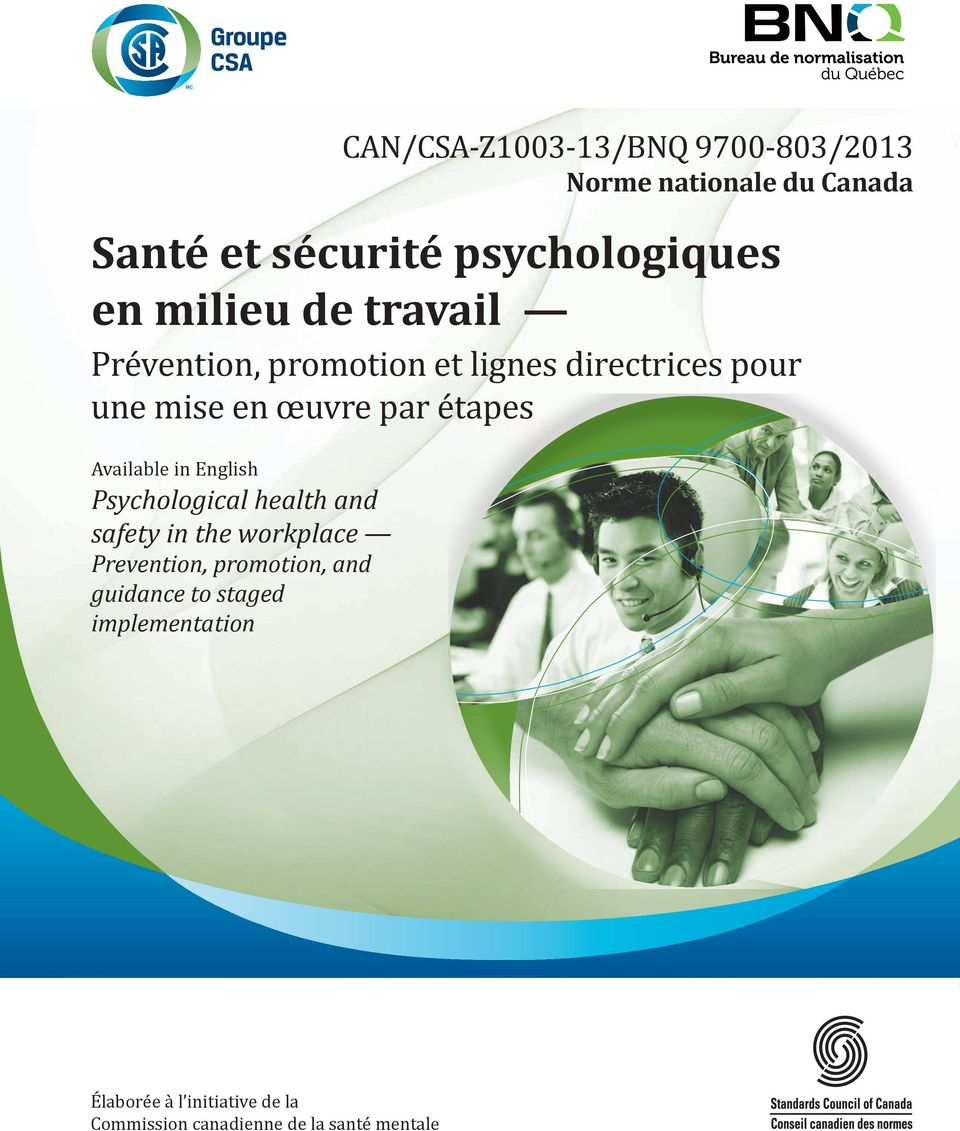 Avilble in English Psychologicl helth nd sfety in the workplce Prevention, promotion, nd