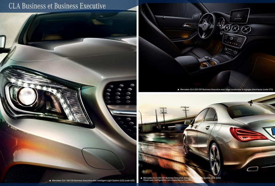 avec Intelligent Light System (ILS) (code 622) Mercedes CLA 220 CDI Business Executive