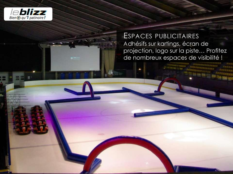projection, logo sur la piste