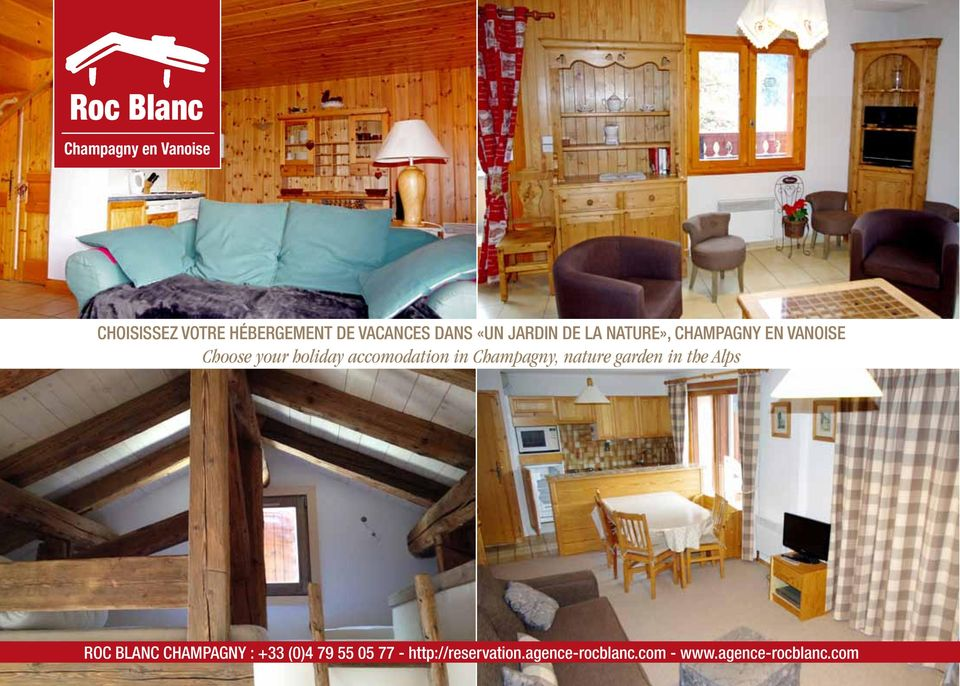 accomodation in Champagny, nature garden in the Alps ROC BLANC CHAMPAGNY