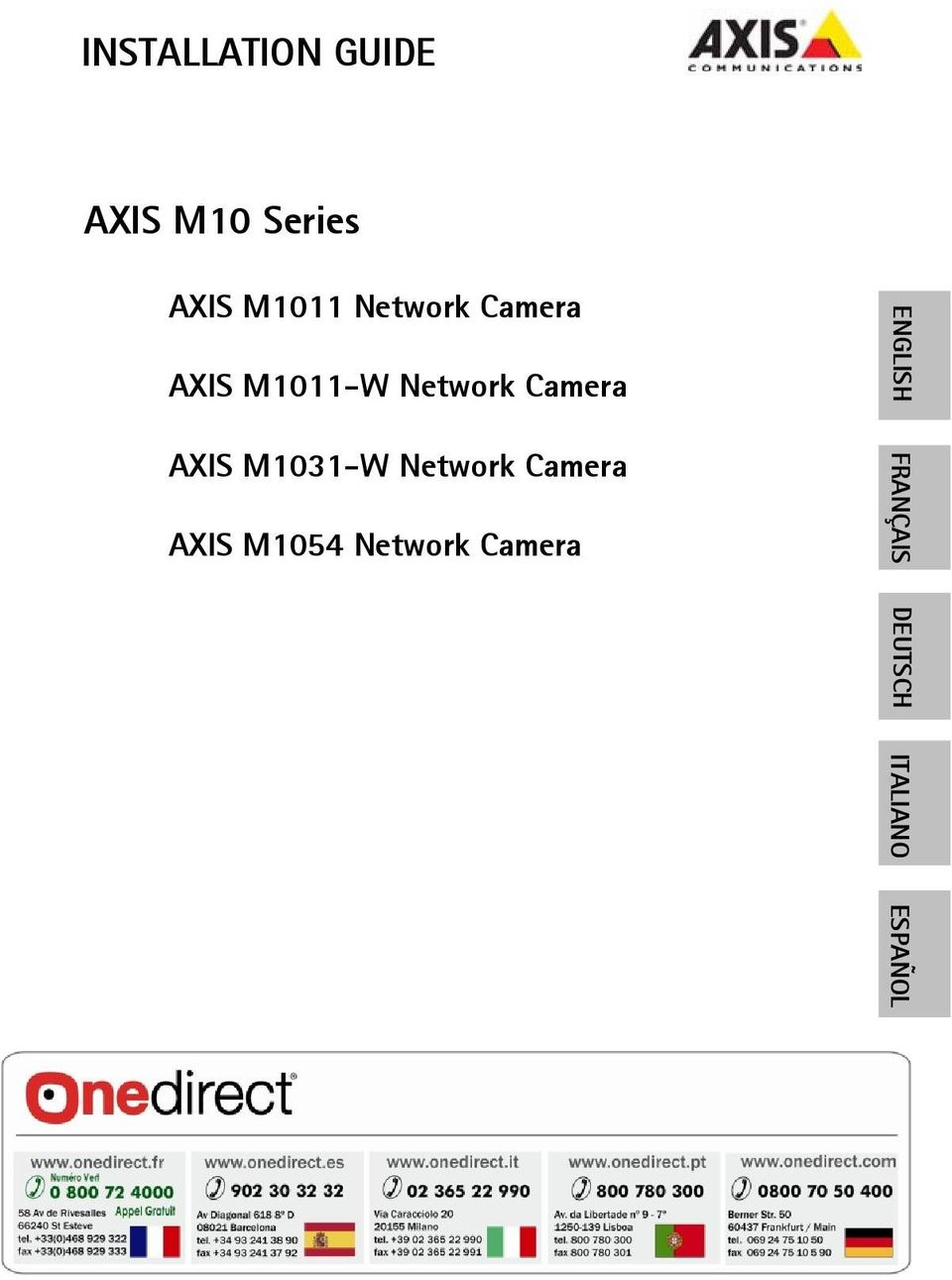 AXIS M1031-W Network Camera AXIS M1054