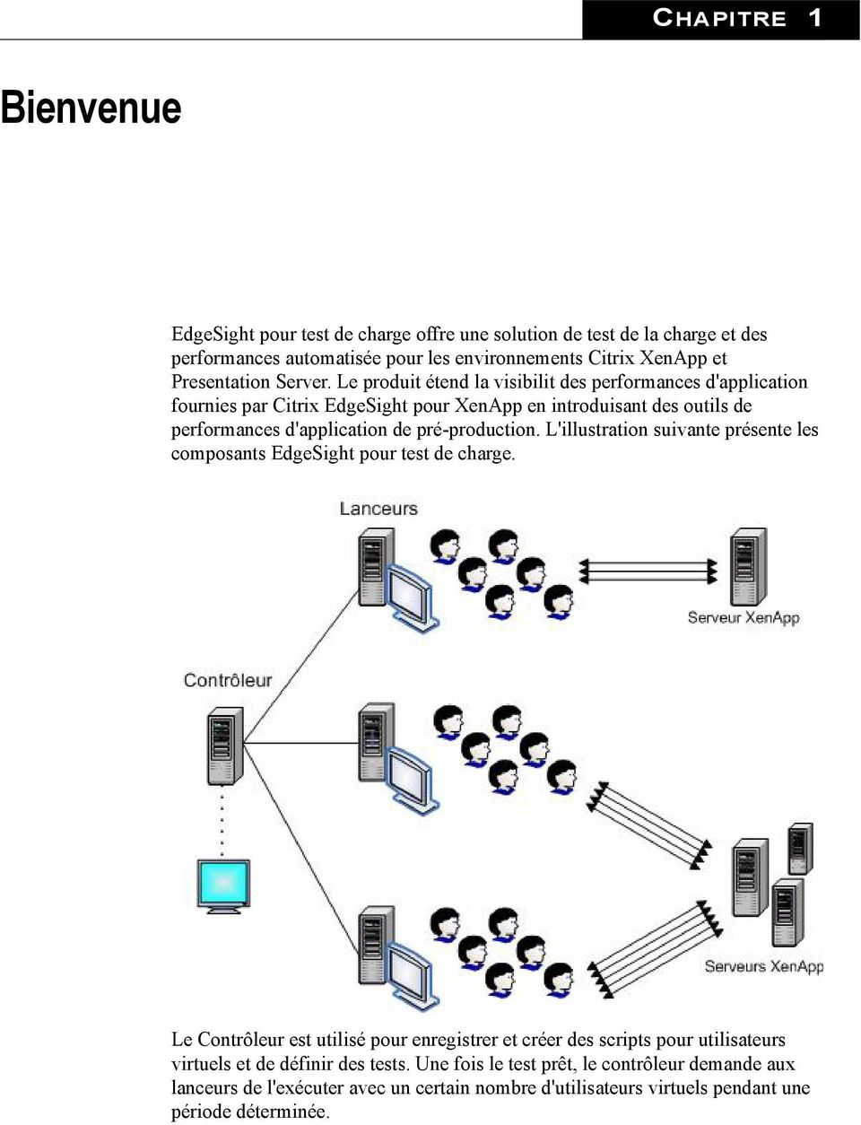 Le produit étend la visibilit des performances d'application fournies par Citrix EdgeSight pour XenApp en introduisant des outils de performances d'application de pré-production.