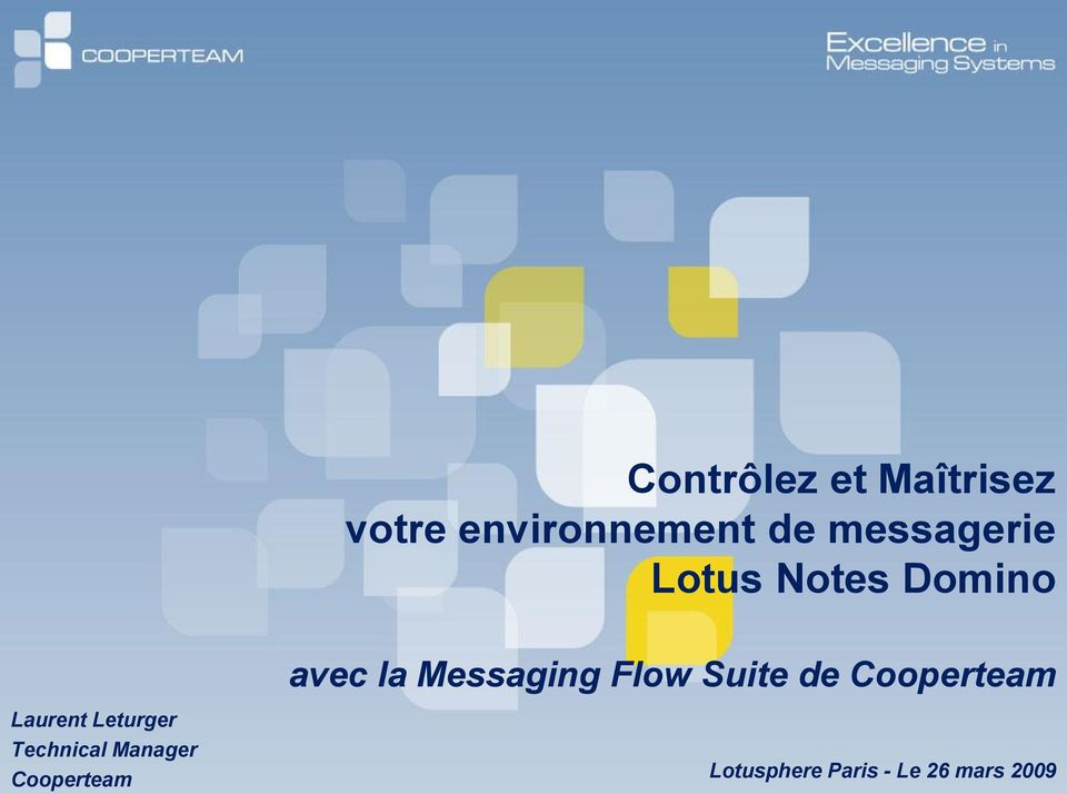 Flow Suite de Cooperteam Laurent Leturger