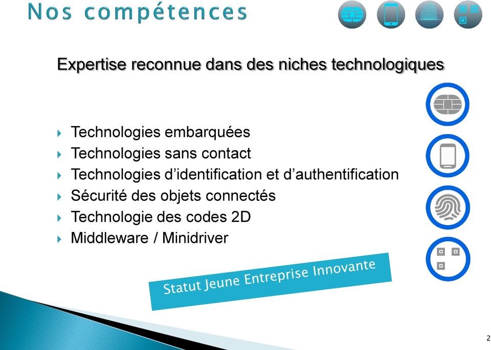 Technologies d identification et d authentification
