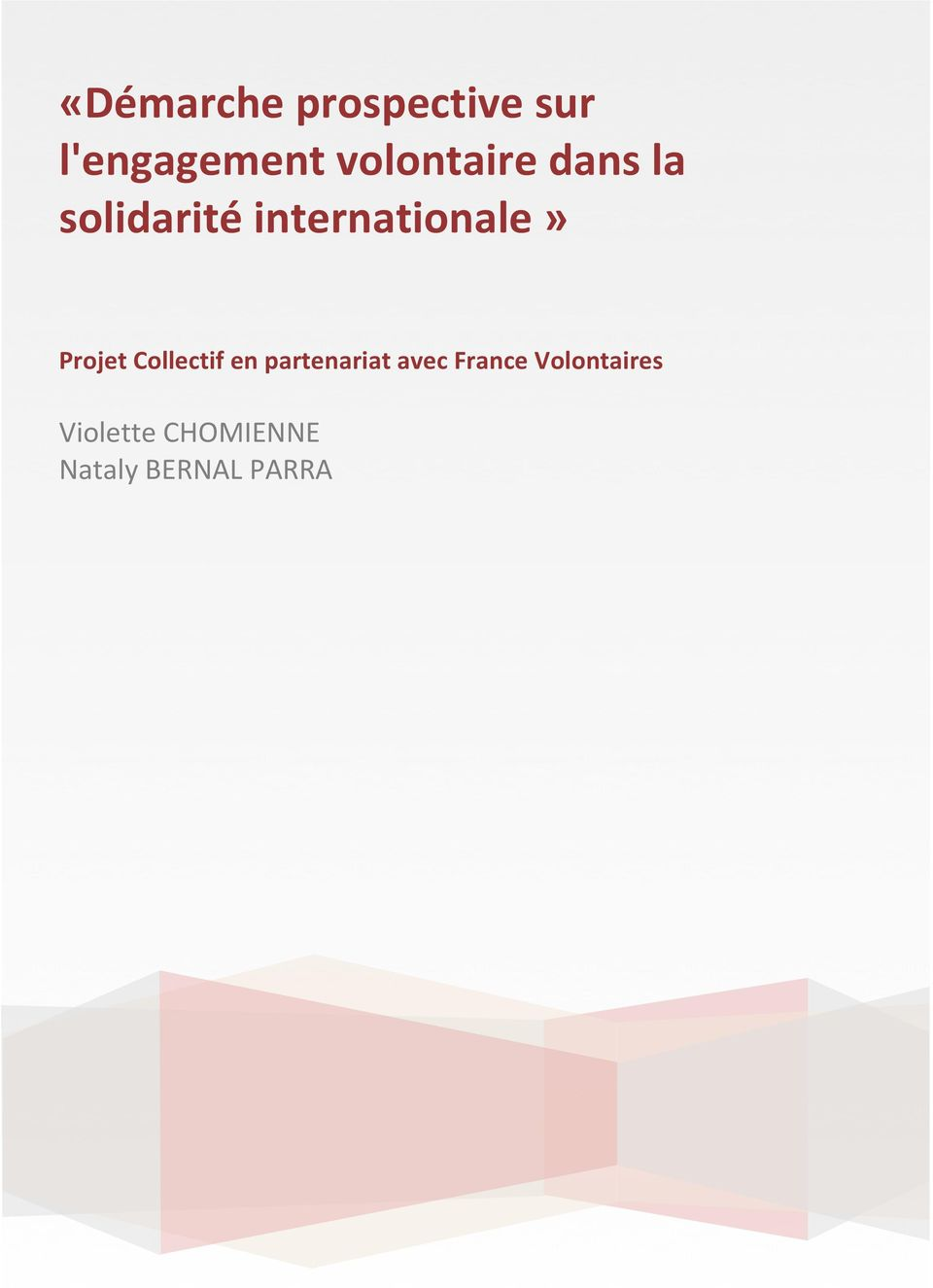internationale» Projet Collectif en