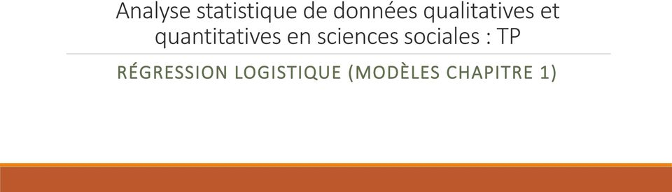 sciences sociales : TP