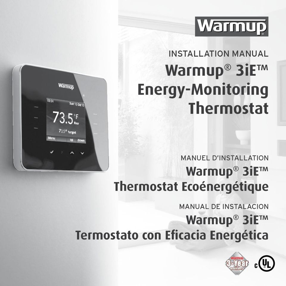 INSTALLATION Warmup 3iE Thermostat