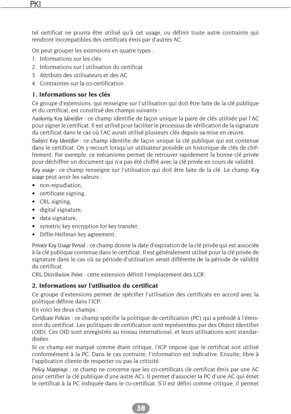 Contraintes sur la co-certification. 1.